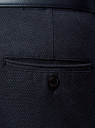Брюки-чиносы из хлопка oodji для мужчины (синий), 2L150130M/47391N/7975O