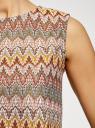 Топ из фактурной ткани с этническим узором oodji #SECTION_NAME# (коричневый), 15F05004/45509/3766E - вид 5