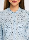 Блузка вискозная с регулировкой длины рукава oodji #SECTION_NAME# (синий), 11403225-3B/26346/7029G - вид 4