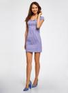 Платье хлопковое со сборками на груди oodji #SECTION_NAME# (фиолетовый), 11902047-2B/14885/8010S - вид 6