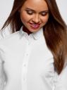 Рубашка хлопковая с принтованным воротником oodji #SECTION_NAME# (белый), 13K03012/48462/1000B - вид 4