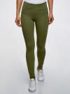Брюки облегающие с декоративными карманами oodji для женщины (зеленый), 28600036/43127/6901N - вид 2