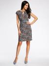 Платье трикотажное с ремнем oodji #SECTION_NAME# (разноцветный), 24008033-2/16300/7029G - вид 2