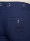 Брюки льняные свободного кроя oodji для женщины (синий), 21704160/19638/7900N - вид 5