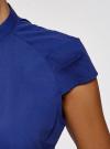 Рубашка с коротким рукавом из хлопка oodji #SECTION_NAME# (синий), 11403196-3/26357/7500N - вид 5