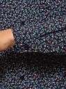 Блузка из струящейся ткани с нагрудными карманами oodji #SECTION_NAME# (синий), 11401278/36215/7930E - вид 5