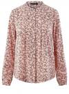 Блузка вискозная с отстрочками на груди oodji #SECTION_NAME# (розовый), 21411121/47075N/4029F