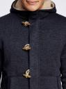 Куртка трикотажная утепленная с отделкой из искусственного меха oodji #SECTION_NAME# (синий), 5L911027M/44353N/7900M - вид 4