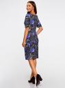 Платье с вырезом-лодочкой oodji #SECTION_NAME# (черный), 24008310-1/37809/2975F - вид 3