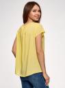Блузка свободного силуэта с бантом oodji #SECTION_NAME# (желтый), 11411154-1B/24681/5000N - вид 3