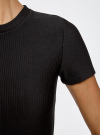 Платье трикотажное с коротким рукавом oodji для женщины (черный), 14011007/45262/2900N - вид 5