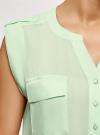 Блузка вискозная с нагрудными карманами oodji #SECTION_NAME# (зеленый), 21412132-6B/48756/6501N - вид 5