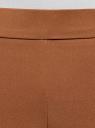 Брюки облегающие на эластичном поясе oodji #SECTION_NAME# (коричневый), 11706196B/42250/3700N - вид 4