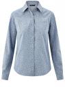 Рубашка джинсовая принтованная oodji #SECTION_NAME# (синий), 16A09003-3/47735/7912G