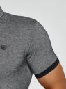 Поло с контрастной отделкой на рукавах oodji #SECTION_NAME# (серый), 5L412223M/46194N/2910J - вид 5