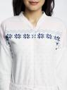 Комбинезон домашний oodji для женщины (белый), 59809002/24336/1241J