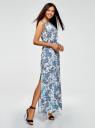 Платье макси с резинкой на талии oodji для женщины (разноцветный), 24005137/46943/3075E