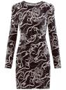 Платье трикотажное облегающего силуэта oodji #SECTION_NAME# (черный), 14000171/46148/2930O
