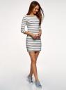 Платье трикотажное базовое oodji #SECTION_NAME# (белый), 14001071-2B/46148/1279S - вид 6