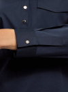 Блузка хлопковая с нагрудным карманом oodji #SECTION_NAME# (синий), 13K03017/26357/7910B - вид 5