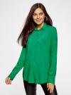 Блузка базовая из вискозы с карманами oodji #SECTION_NAME# (зеленый), 11400355-4/26346/6D00N - вид 2