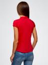 Рубашка реглан с воротником-стойкой oodji для женщины (красный), 13K03006-1B/26357/4501N