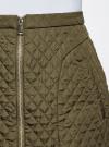 Юбка из фактурной ткани с молнией спереди oodji #SECTION_NAME# (зеленый), 11600410/38325/6800N - вид 4