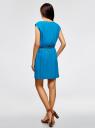 Платье вискозное без рукавов oodji #SECTION_NAME# (синий), 11910073B/26346/7500N - вид 3
