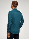 Рубашка extra slim в мелкую клетку oodji #SECTION_NAME# (синий), 3B140003M/39767N/7962C - вид 3