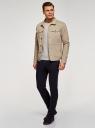 Куртка джинсовая на пуговицах oodji #SECTION_NAME# (бежевый), 6L300011M/35771/3300W - вид 6