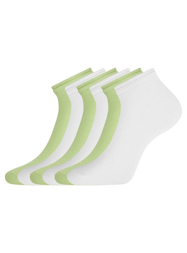 Комплект носков с двойной резинкой (6 пар) oodji для женщины (разноцветный), 57102703T6/47469/25