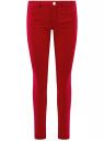 Джинсы зауженные базовые oodji для женщины (красный), 12104059B/45491/4502W