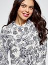 Блузка вискозная А-образного силуэта oodji #SECTION_NAME# (белый), 21411113B/26346/3079O - вид 4