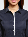 Рубашка приталенная с нагрудными карманами oodji #SECTION_NAME# (синий), 11403222-3/42468/7900N - вид 4