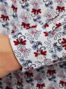 Блузка базовая из вискозы oodji для женщины (серый), 11411136B/26346/2045O
