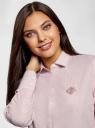 Рубашка приталенная oodji #SECTION_NAME# (розовый), 13K03001-3B/33081/4B10S - вид 4