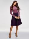 Юбка миди на подкладке из сетки oodji для женщины (фиолетовый), 11600364/43348/8800N