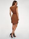 Платье вискозное без рукавов oodji #SECTION_NAME# (коричневый), 11910073B/26346/3701N - вид 3
