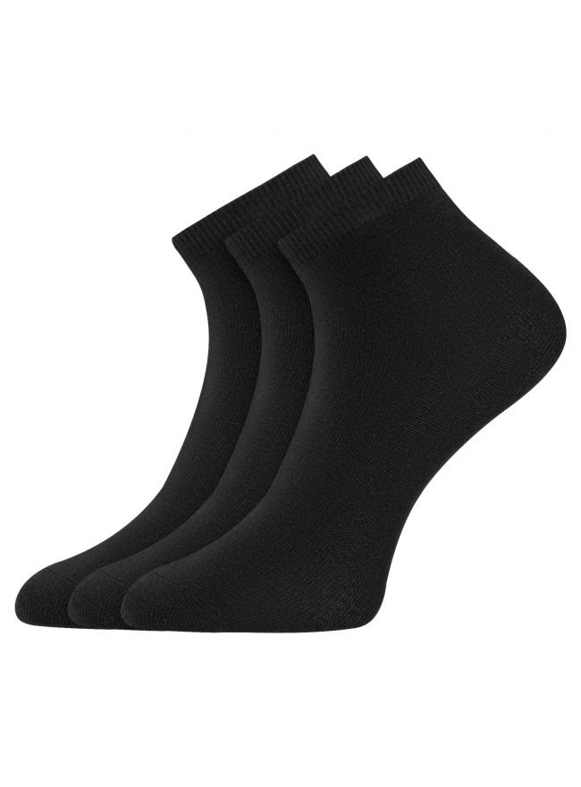 Комплект из трех пар укороченных носков oodji для женщины (черный), 57102418T3/47469/67