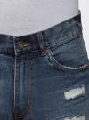 Шорты джинсовые oodji #SECTION_NAME# (синий), 6L220017M/35771/7500W - вид 4