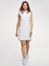 Платье хлопковое без рукавов oodji #SECTION_NAME# (белый), 11911027-2/13175N/1040P - вид 2