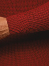 Свитер в рубчик с высоким воротом oodji #SECTION_NAME# (красный), 4L307010M/47211N/4500M - вид 5