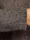 Джемпер вязаный с пайетками oodji #SECTION_NAME# (коричневый), 63805330-1/48800/3700X - вид 5