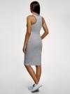 Платье хлопковое облегающего силуэта oodji #SECTION_NAME# (серый), 14015022-1/47420/2029Z - вид 3