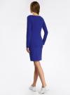 Платье трикотажное облегающего силуэта oodji #SECTION_NAME# (синий), 14001183B/46148/7500N - вид 3