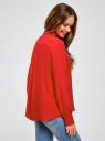 Блузка вискозная А-образного силуэта oodji #SECTION_NAME# (красный), 21411113B/26346/4501N - вид 3