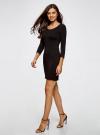 Платье облегающее (комплект из 2 штук) oodji для женщины (черный), 14001193T2/47420/2900N - вид 6