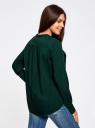 Блузка вискозная А-образного силуэта oodji #SECTION_NAME# (зеленый), 21411113B/26346/6900N - вид 3