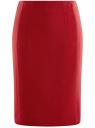 Юбка прямая с завышенной талией oodji #SECTION_NAME# (красный), 21601259-1/31291/4500N
