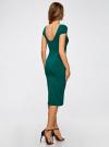Платье миди с вырезом на спине oodji для женщины (зеленый), 24001104-5B/47420/6E00N - вид 3